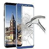 Galaxy S8 plus protector de pantalla , ikalula Galaxy S8 plus cristal templado 3D transparente 1 pack [Cobertura Completa] Anti-rasguños Templado de Película Protectora para el Samsung Galaxy S8 plus - azul