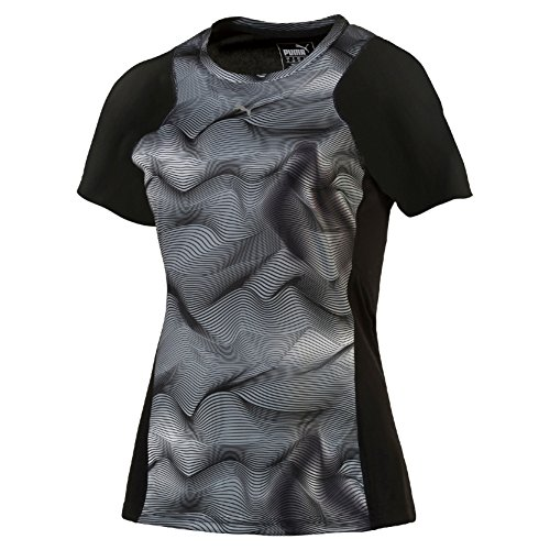 puma-graphic-s-s-tee-w-camiseta-tecnica-para-mujer-color-negro-gris-talla-xl
