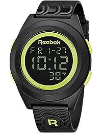 Reebok di-R para hombre de fiesta reloj Digital bloque negro con amarillo RC-DBP-G9-PBPB-BY