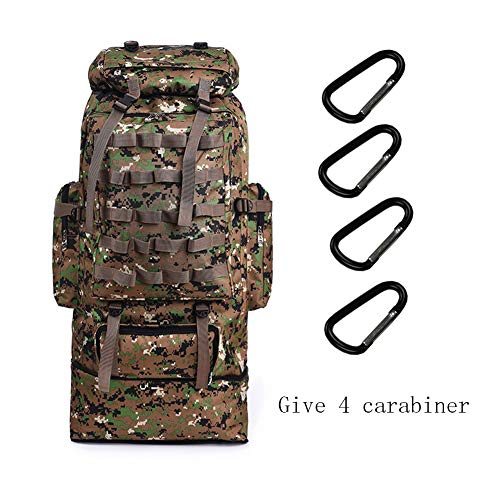 Large Capacity 75L Outdoor Camouflage Tartical Hiking Backpack Waterproof Military Bag Men travel Camping Hunting Hiking Backpack -