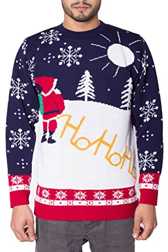 *NOROZE Herren Unisex Retro Hässlich Frech Gestrickt Weihnachten Pullover strickpullover Top*