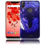 thematys Passend für Wiko View 2 Plus Nacht Wolf Handy-Hülle Silikon - staubdicht stoßfest & leicht - Smartphone-Case