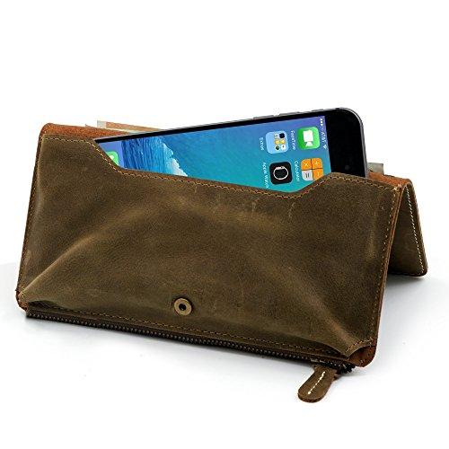 Manna SmartWallet Amerigo, kompatibel mit iPhone SE, 5,6s Sony Xperia Z3 Compact, Multifunktions Brieftasche, Geldbeutel, Portemonnaie für Smartphones mit Displaydiagonale bis 5