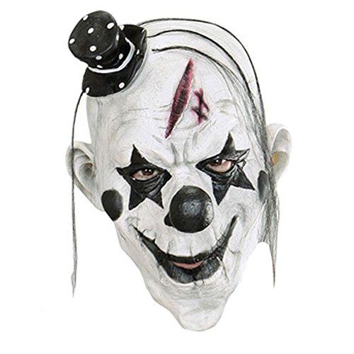 Queenshiny Latex Realistische Kopfmaske Halloween Cosplay Partei-Kostüm-Abendkleid (Killer Clown)