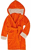 Timone Soft Bathrobe with Hood for Girls and Boys (Orange/Beige (678/716), 146-152)