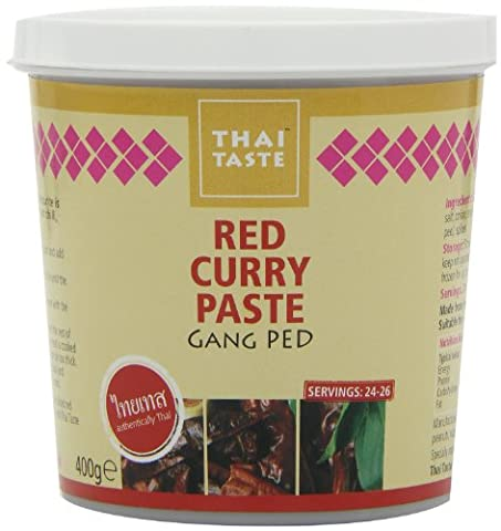Thai Taste Red Curry Paste in Tub 400 g (Pack of 3)