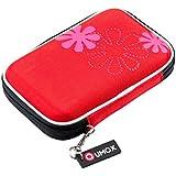 """QUMOX 2,5"""" extern HDD Gehäuse / Tasche für tragbare Festplatte Rot"""