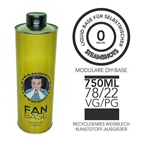 Steamshots Fan Base - 750ml 78/22 VG/PG Nikotinfrei