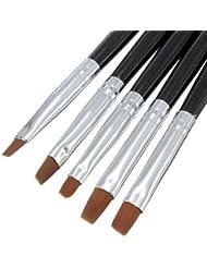 Naisecore 5pcs Minuscule Nail Art acrylique gel UV Pen Peinture Brosse Plate Outil de Lot