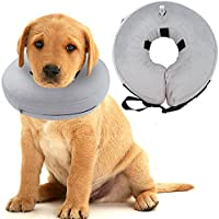 SCENEREAL CO. Recovery Dog Collar Inflatable Collars (Neck Girth 21cm-28cm) E-Collar Prevent Pets from Biting Injuries