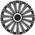 """Universal Radzierblende Radkappe Le Mans schwarz/silber 16"""" 16 Zoll Audi 80 Lim- + Coupé 90 Lim 100 200 A2 A3 A4 S4 A4 Cabrio A5 A6 A 1 A 2 A 3 A 4 A 5 A 6 A 7 A 8"""