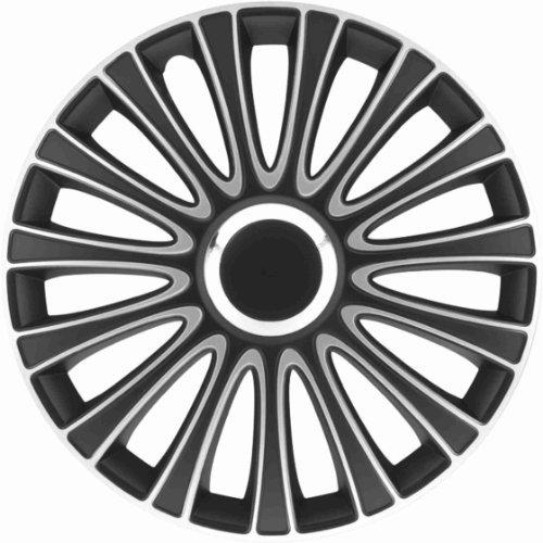 "Preisvergleich Produktbild Universal Radzierblende Radkappe Le Mans schwarz/silber 15"" 15 Zoll Opel Calibra Kadett Manta Tigra Agila Astra-G Astra-H Corsa B C D Signum Vectra B C Zafira A B"