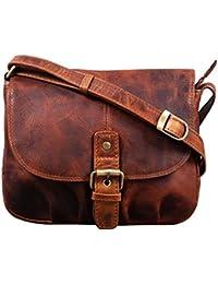 eede75d9f3d0c STILORD  Iris  Leder Handtasche Damen klein Vintage Umhängetasche zum  Ausgehen Klassische Abendtasche Partytasche Freizeittasche