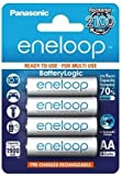 #10: Panasonic BK-3MCCE/4BN eneloop AA 2100 Cycle Ni-MH Pre-Charged Rechargeable Batteries, 4 Pack