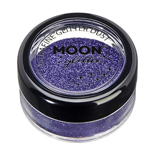 Lavendel Staub (Klassischer ultrafeiner Glitter-Staub von Moon Glitter - 100% kosmetische Glitzer für Gesicht, Körper, Nägel, Haare und Lippen - 5g - Lavendel)