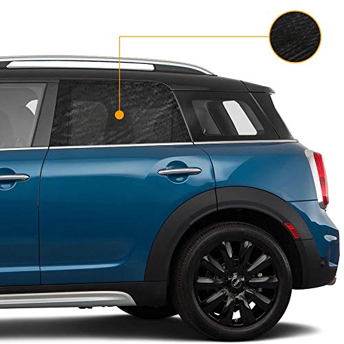 Tommask tendina parasole auto universale, proteggi bambini neonati e animali domestici filtra raggio sole uv oscurante esterno interno finestrino laterale copri portiere macchina 2 pezzi
