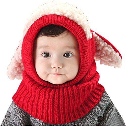 Invierno bebé Niños Chicas Chicos Tejido Gorro Punto