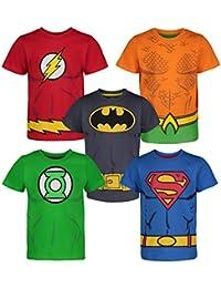 a3e47630f8c7ed Warner Bros. T-Shirt Bambino Justice League - Maglietta Bimbo Batman,  Superman,