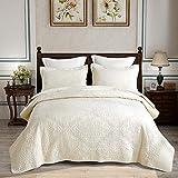 Parures de lit 2 personnes-Courpointe pour lit 230x250cm-2 Taies d'oreiller...