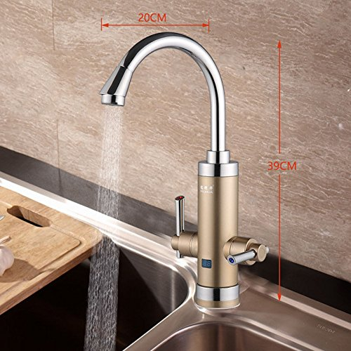 LHbox Tap Küche Wasserhahn Küche zu Hause Elektrische Durchlauferhitzer Durchlauferhitzer für Warmwasser Heizung Küche Elektrische Heizung Haushalt Wasserhähne Ein Paar Grafiken