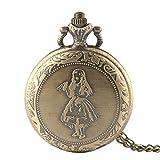 Herren Taschenuhr, Antik Creative Mädchen Design Bronze Taschenuhr Frauen Anhänger, Geschenke für Männer