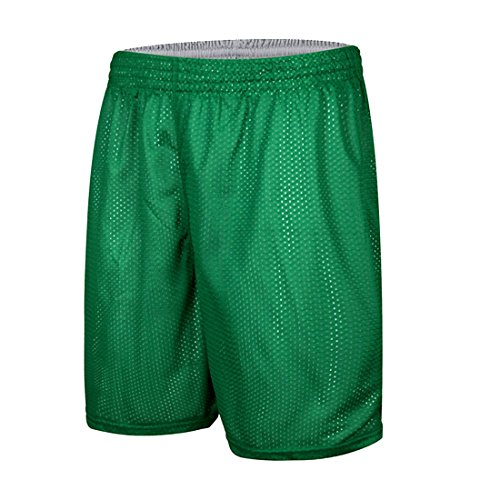 Men's Reversible Basketball Shorts,Quick Dry Sport Shorts,Running Gym Training Breathable Shorts Grün und Weiß