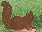 Tierfigur Skulptur Eichhörnchen Rostig Metall 22 cm x 15 cm