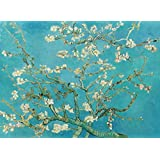 "Almond Blossoms By Van Gogh - Van Gogh Famous Oil Paintings Art Print - ""Top 10 Van Gogh Paintings"" Collection - Large Size Premium Quality Unframed Wall Art Print On Canvas (18 Inches X 24 Inches) For Home And Office Interior Decoration By Tall"