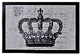 Bavaria Home Style Collection-akzentecrown Fußmatte/Schmutzabstreifer/Fussmatte Fussabstreifer Sauberlaufmatte/Schmutzfangmatte/Königlich/Crown Krone/König grau Grösse 40 x 60 cm