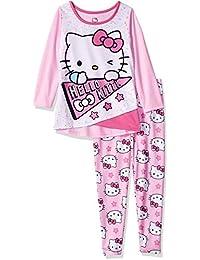 Hello Kitty Big Girls' 4d Legging Sleepwear Set