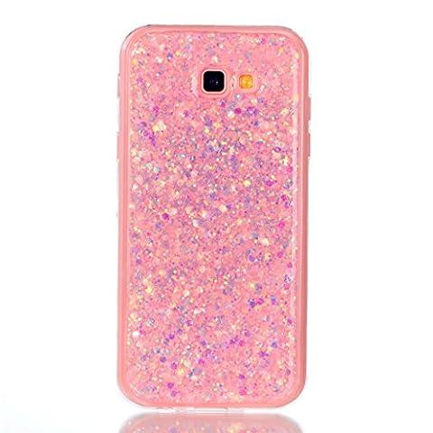 Coque de téléphone de MUTOUREN TPU phone Case Cover pour Samsung Galaxy A7 (2017) Peau protectrice Silicone TPU ultra mince Haute qualité robuste Résistance rayure Résistant chutes Housse souple Rose