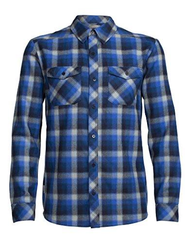 Icebreaker Herren Lodge Long Sleeve Flannel Shirt Hemd Largo/Midnight Navy/Plaid