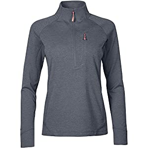 51t5B D7fPL. SS300  - Rab Women's Nexus Pull-on Midlayer Fleece Top Light Weight Stretch 3/4 Zipped Front Chest Pocket