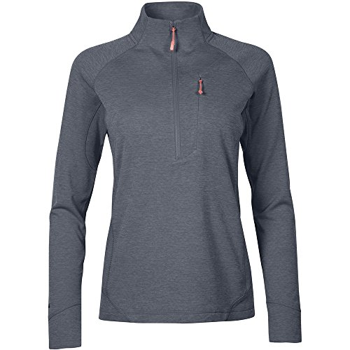 51t5B D7fPL. SS500  - Rab Women's Nexus Pull-on Midlayer Fleece Top Light Weight Stretch 3/4 Zipped Front Chest Pocket