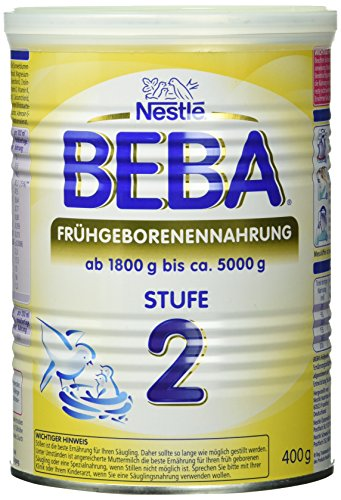 Nestlé Beba Frühgeborenennahrung Stufe 2 Pulver, 1er Pack (1 x 400 g) -