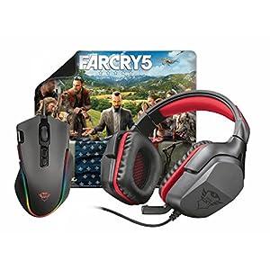 Trust 22874 Gaming Bundel 3-in-1 Kopfhörer, Maus und Mauspad inklusive Far Cry 5 Schwarz