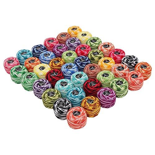 42 Pezzi Filato Cotone Per Uncinetto 5g 43m Cotone Uncinetto