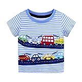 Riou Babykleidung Sommer,Baby Mädchen Jungen Cartoon Print T Shirts Tops Outfits Kleidung für Baby Tops (1-6 Jahre) (18M, Blau A)