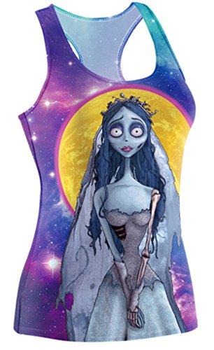 Belsen Damenoberteil, Tank Top, Halloween-Design Galaxy zombie bride