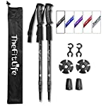 TheFitLife Hiking Walking Trekking Poles - 2 Pack With Antishock And Quick Lock System, Telescopic, Collapsible… 3