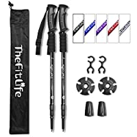 TheFitLife Hiking Walking Trekking Poles - 2 Pack With Antishock And Quick Lock System, Telescopic, Collapsible… 1