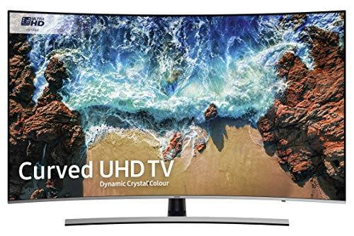 Samsung UE55NU8500 55-Inch Curved Dynamic Crystal Colour 4K Ultra HD Certified HDR 1000 Smart TV - Black/Silver (2018 Model)