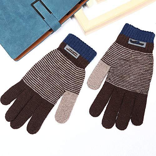 LBYMYB Gestrickte Strickhandschuhe Student Stitching Persönlichkeit Finger Zeigehandschuhe, Handschuh (Farbe : Beige)