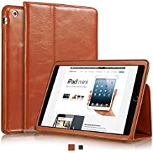 """Funda de piel KAVAJ """"Berlin"""" de color marrón coñac para el iPad Mini 2 de Apple (Retina Display) y el iPad Mini - Piel genuina con la función de stand-up"""