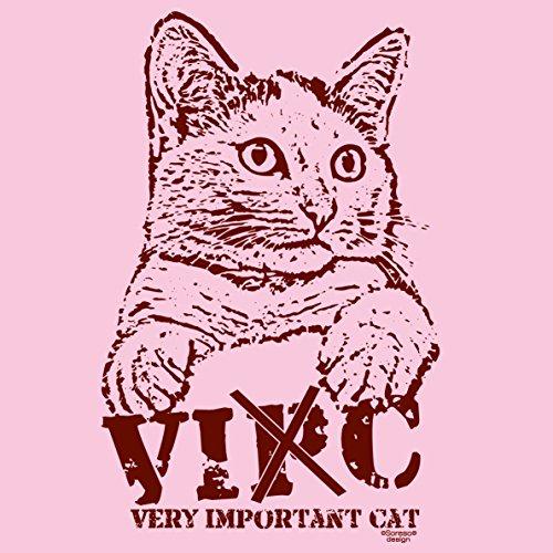 Katzen Damen T-Shirt Girlie :-: Geschenk Idee Für Katzenbesitzer :-: VIC :-: Geburtstagsgeschenk Muttertagsgeschenk :-: für Sie Farbe: rosa Rosa