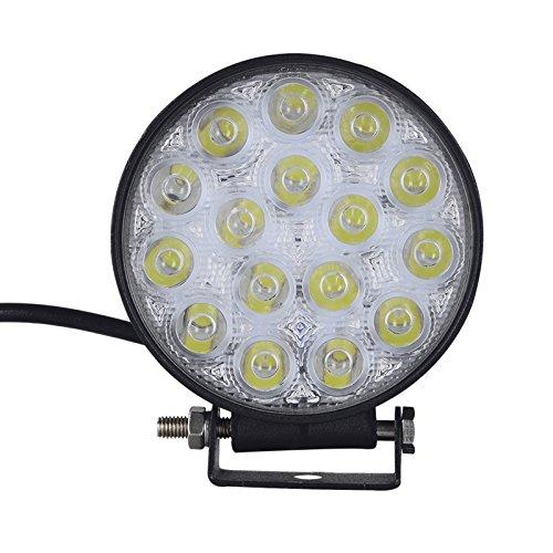 Viugreum Faro LED, 12V IP67 Impermeabile, 48W 3840LM Faro Da Lavoro, 6500K Bianco Freddo, Riflettore Di Sicurezza Super Bright per ATV, UTV, SUV