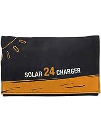 Providethebest 24W faltbare Solaraufladeeinheit Triple-USB-Solarstrom-Ladegerät Panel Module Wasserdichte Generator für iPhone und Android Phones GPS