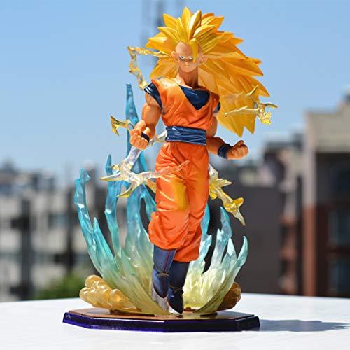 XG YXZOZZ Dragon Ball Anime Estatua La Tercera Generación Super Saiyan Wukong Modelo de Juguete de PVC Exquisito Anime Decoración Colección de Artesanía -7in Colección