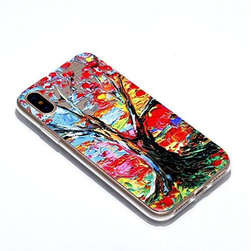 Slynmax Crystal Clear TPU Cover per iPhone X Custodia Silicone Caso Molle di Morbida Sottile Gel Transparent Bumper Case Protettiva Caso Chiaro Copertura Slim Thin Skin Shell Protezione per iPhone X S Modello #2