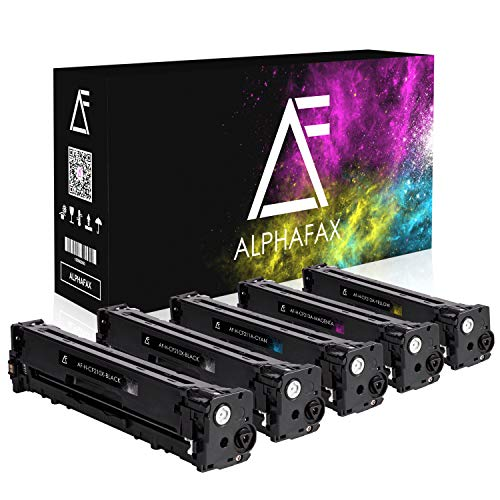 5 Alphafax Toner für HP Laserjet Pro 200 Color MFP M276nw M276n M251n M251nw kompatibel zu HP CF210X CF211A CF212A CF213A - Schwarz je 2.400 Seiten, Color je 1.800 Seiten (Hp Color Laserjet Black Toner)